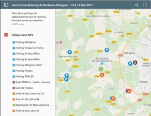 Meeting de l'air BA106 - plan parkings