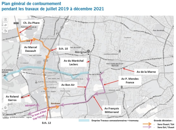 Plan travaux extension tram A vers aéroport